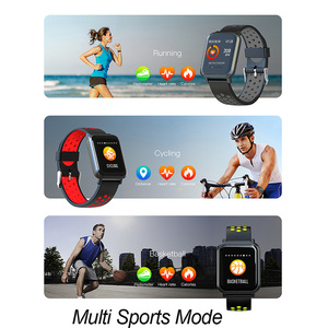 Image 4 - الذكية الرياضة ووتش SN60 الروبوت IOS القلب معدل الرجال النساء سوار ضغط الدم جهاز تعقب للياقة البدنية اللون للماء النشاط الفرقة