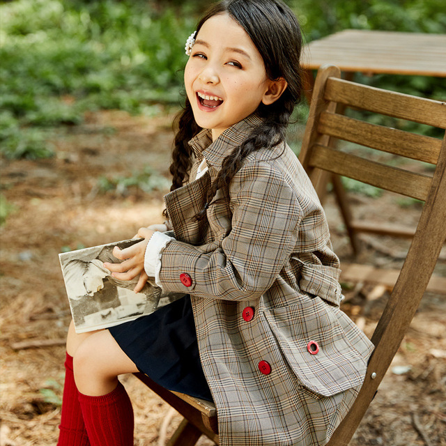 20ab98183 Kids Jacket Baby Girl Winter Clothes Baby Plaid Jacket 2018 New ...
