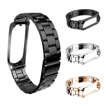 Stainless steel wrist strap for Xiaomi Mi Band 4 Band Strap for Miband 3 Bracelet Pulseira Miband3