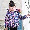 Хорошее качество Нового Детская Зимняя Куртка Девушки WarmThickened Вниз Пальто Дети Причинно Открытый Снег Пальто Верхняя HB1036