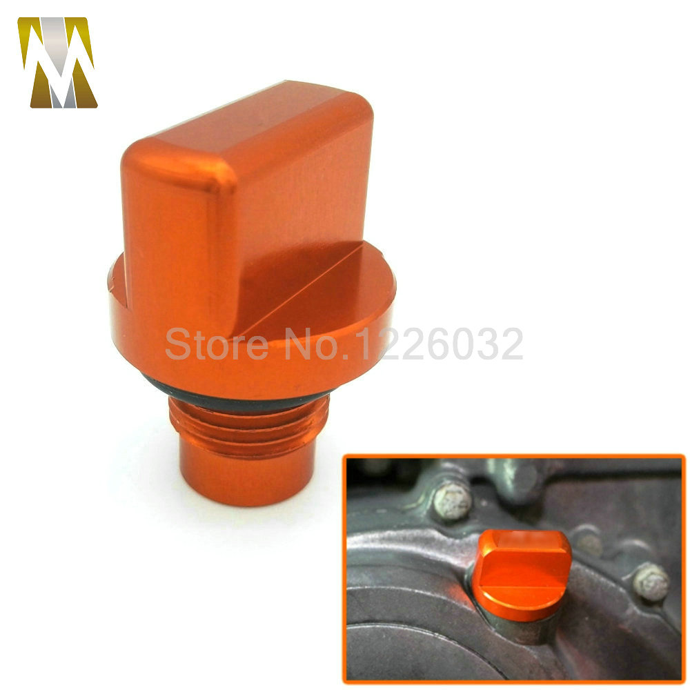New Listing Motorcycle Orange Accessories CNC Aluminum Engine Magnetic Oil Drain Plug For KTM DUKE 125