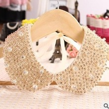 NEw 2015 hot Vintage pearl false collar necklace& statement necklace elegant fashion pearl Fake Collar necklace choker jewelry