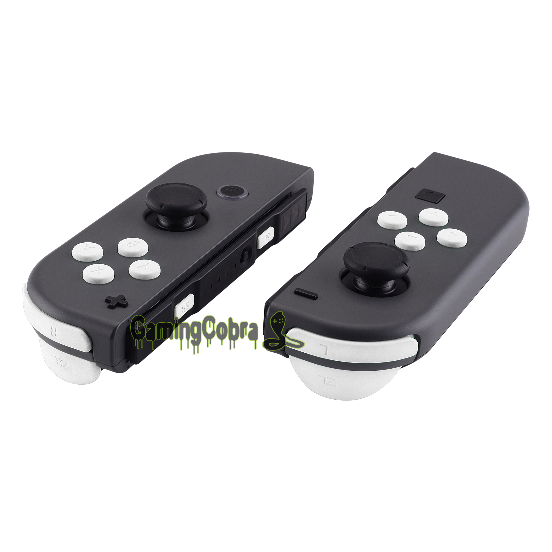 Soft Touch White Replacement ABXY Direction Keys SR SL L R ZR ZL Trigger Full Set Buttons W/ Tools For Nintendo Switch Joy-Con