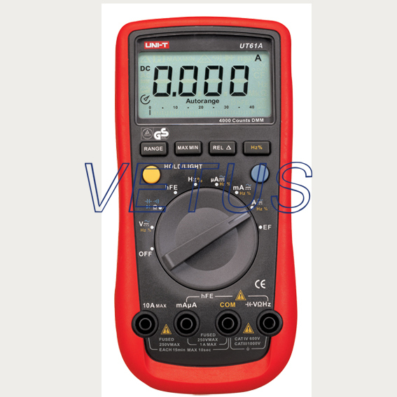 UNI-T UT61A UT-61A LCD modern Digital Multimeter with high precision tester meter frequency divider adapter for jh audio jh24 roxanne akr03 layla angie earphone pin 1pcs