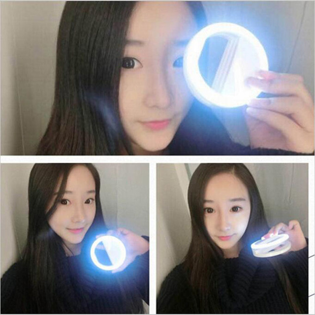 Selfie Ring Flash Led Fill Light Lamp Camera Photography Video Spotlight for iphone X 8 7 Samsung S9 S8 Plus Xiaomi Huawei Phone 3