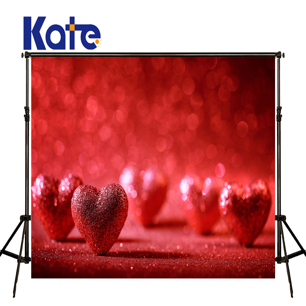 KATE Valentine'S Day Backdrop Photography Backdrops Bokeh Romance Wedding Backdrop Red Love Background for Children Photo Studio 8x10ft valentine s day photography pink love heart shape adult portrait backdrop d 7324