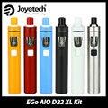 100% Original Joyetech ego AIO D22 XL Kit de 4 ml tanque con batería de 2300 mAh del ego AIO Kit de cig AIO Kit