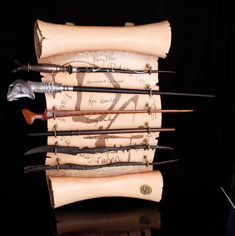 100 stück Neueste Insgesamt Über 60 Stil Harry Potter/Dumbledore/Lucius Malfoy/Luna/Hermine Colsplay Metall Core Zauberstäbe
