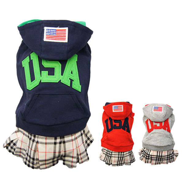2015 Winter Dog font b Clothes b font Wholesale font b Pet b font Dog Usa