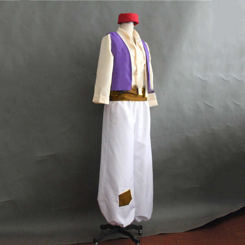 Animation Movie Aladdin Prince Cosplay Costume Men Clothes uniform Fancy Dress