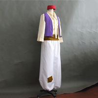Anime Aladdin Lamp Prince Cosplay Costume Man Dance Party Movie Cosplay Costume For Halloween Masquerade Party Costume