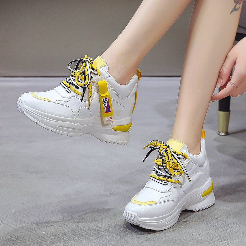 Rubber Wedges Shoes for Women Casual Shoes Comfortable Platform Sneakers Women Vulcanized Shoes Spring and Autumn Women Shoes 35