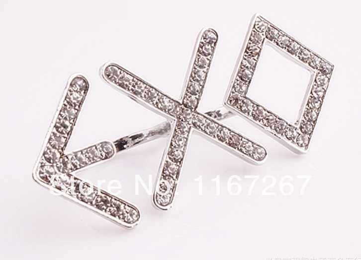 จัดส่งฟรีไม่มีขั้นต่ำKPOP EXO-K EXO-Mจากดาวเคราะห์สมาชิกแหวนใหม่EXOทีมจดหมายRhinestoneแหวนคู่(ขนาดใหญ่7.1X3เซนติเมตร)