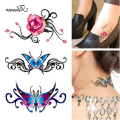 Waterproof Flash Tattoos Sticker Color Rose Temporary Tattoo Stickers Body Art Fake Tattoo Sleeve Foil Decal