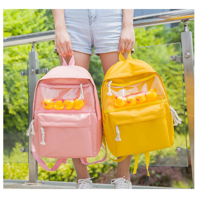 2018 new solid color canvas Women Backpack Teenager Girl Travel Bag duck casual Women backpack Mochila Bagpack Pack Design coolsa new summer linen women slippers fabric eva flat non slip slides linen sandals home slipper lovers casual straw beach shoe page 4