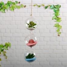 Прозрачная стеклянная Цветочная подставка для растений, подвесная ваза для растений, Террариум, контейнер для дома, сада, офиса, комнаты, милые украшения