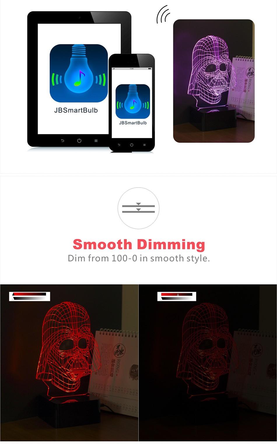 USB Darth 3D Light Star War Hero Figure Creative LED Bluetooth Music Lampara for Baby Children Besides Nightlight (5)