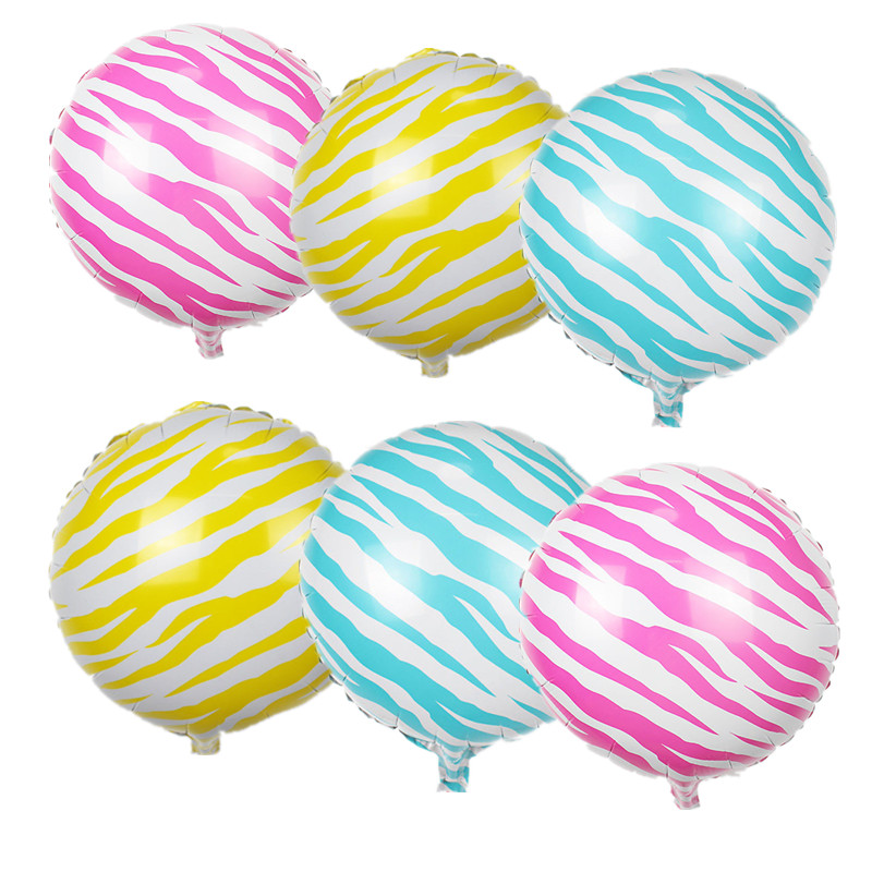 1pc 18 inches zebra striped balloon home wedding decoration foil air balloons party supplies kids birthday gifts drop shipping in ballons accessories from