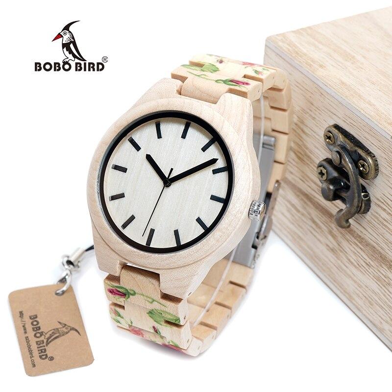 BOBO BIRD WL26 Strong Pine Wood Watches Brand Designer Watch for Men Women New UV Printing