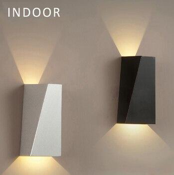 Lámpara de pared LED impermeable ajustable 6W LED lámpara de pared IP65 impermeable interior y exterior de aluminio de pared superficie montada cubo