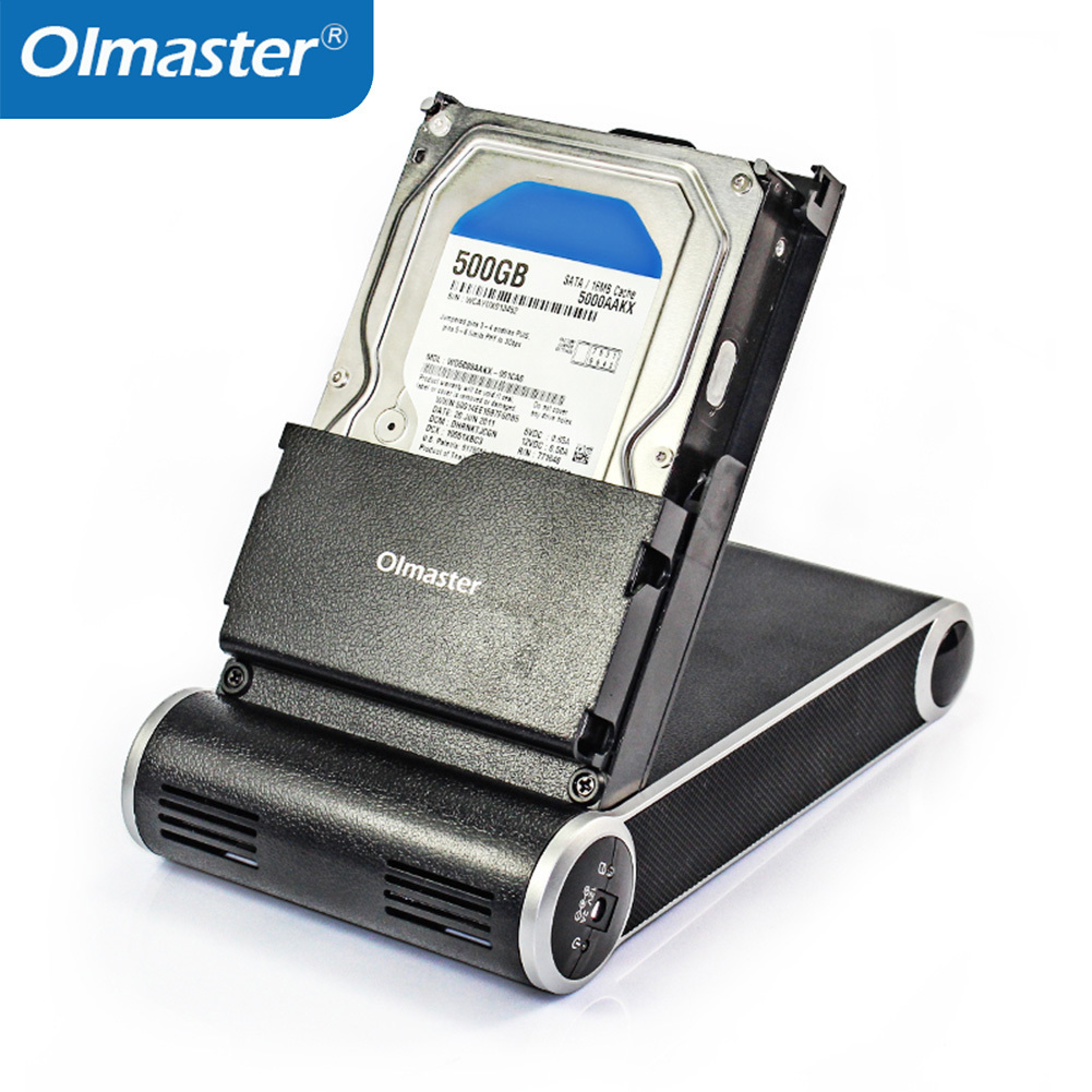 OImaster 3.5'' HDD Enclosure Case USB 3.0 Laptop Hard Disk Drive Box 3.5 Inches SATA HDD SSD Enclosure Docking Station Case silver 3 5 inches usb 2 0 ide hard disk hdd enclosure cartridge case