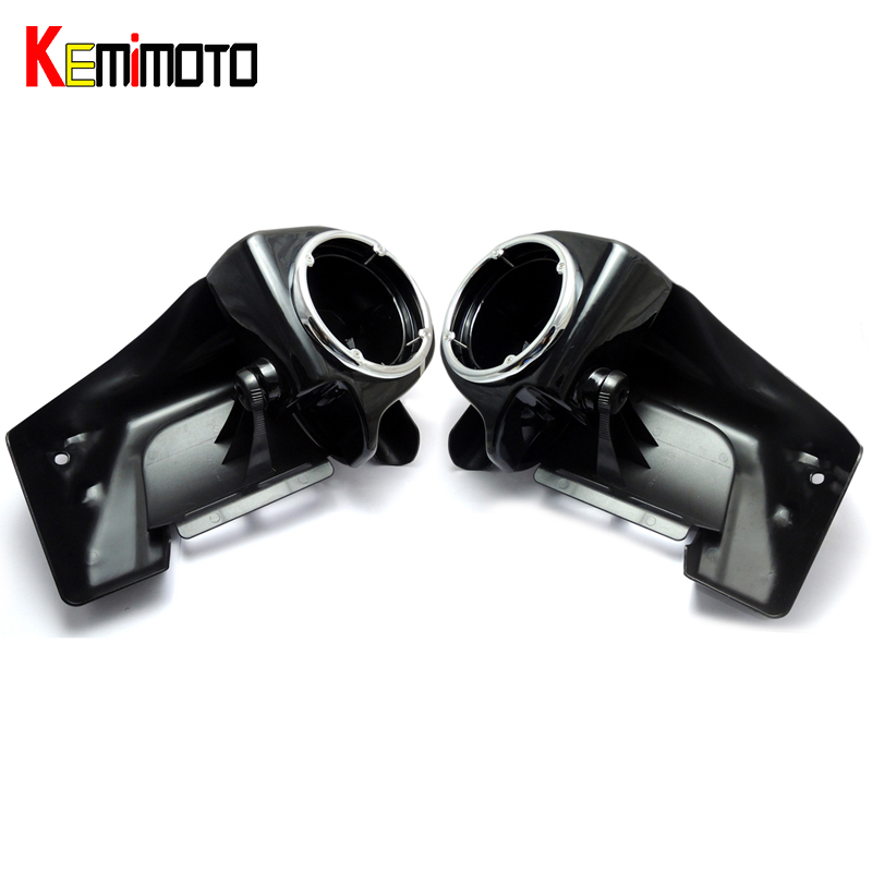 KEMiMOTO For Touring 1983-2013 Lower Vented Leg Fairings One Pair of 6.5 Speaker Boxes Pods AFTER MARKET