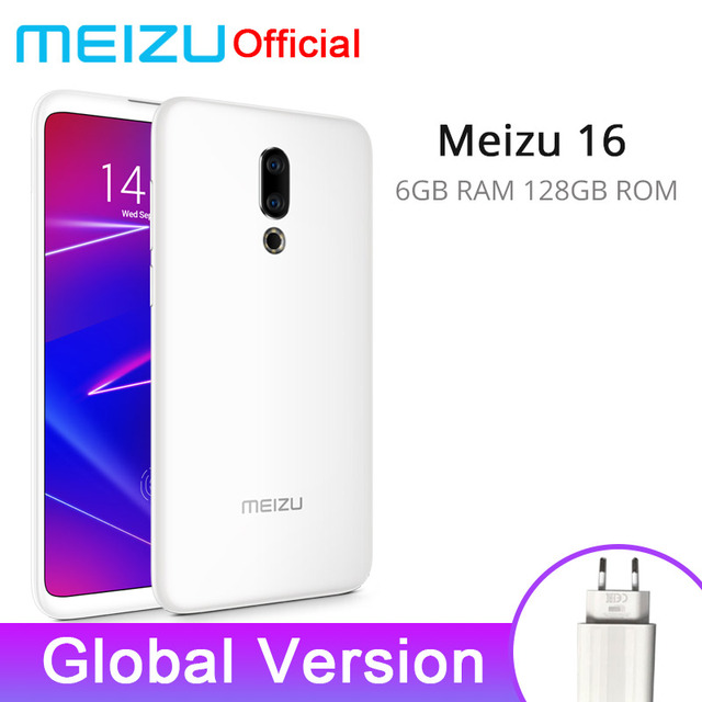 Global Version Meizu 16 6GB 128GB Mobile Phone Snapdragon 710  Octa Core 6'' FHD 2160x1080P Dual Rear Camera 3100 mAh Battery