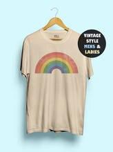 Hillbilly Vintage Rainbow Shirt Women Cute Funny Tshirt Tee Gay AF Shirts LGBT Lesbian Men 70s Pride 1970s