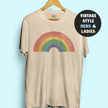 Campesino Vintage camisa de arco iris para mujeres divertida camiseta Gay AF Tee camisas LGBT camisa Gay camiseta lésbica hombres 70s orgullo 1970s