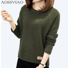 AOSSVIAO New Arrivals Women Sweater And Pullovers Female 2017 Autumn Winter Thick Warm Jumper Tricot Pull Femme