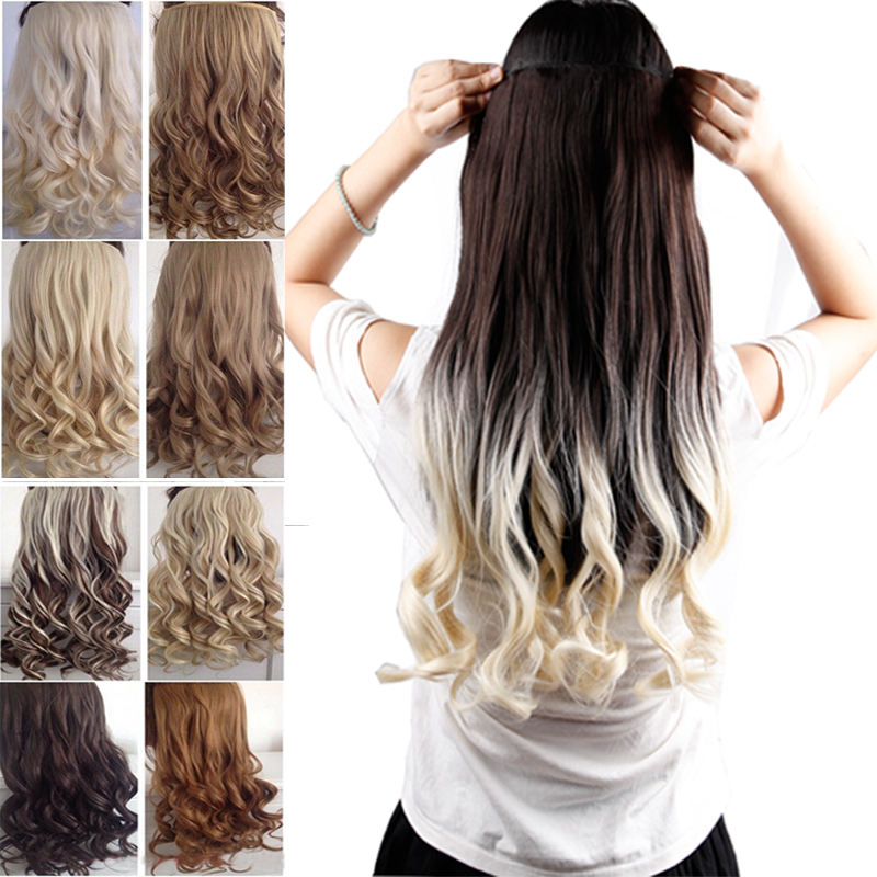 Usa fast shipping long clip in hair extensions one piece 23 inches usa fast shipping long clip in hair extensions one piece 23 inches 58cm curly ombre dip dye one piece hair extentions on aliexpress alibaba group pmusecretfo Images