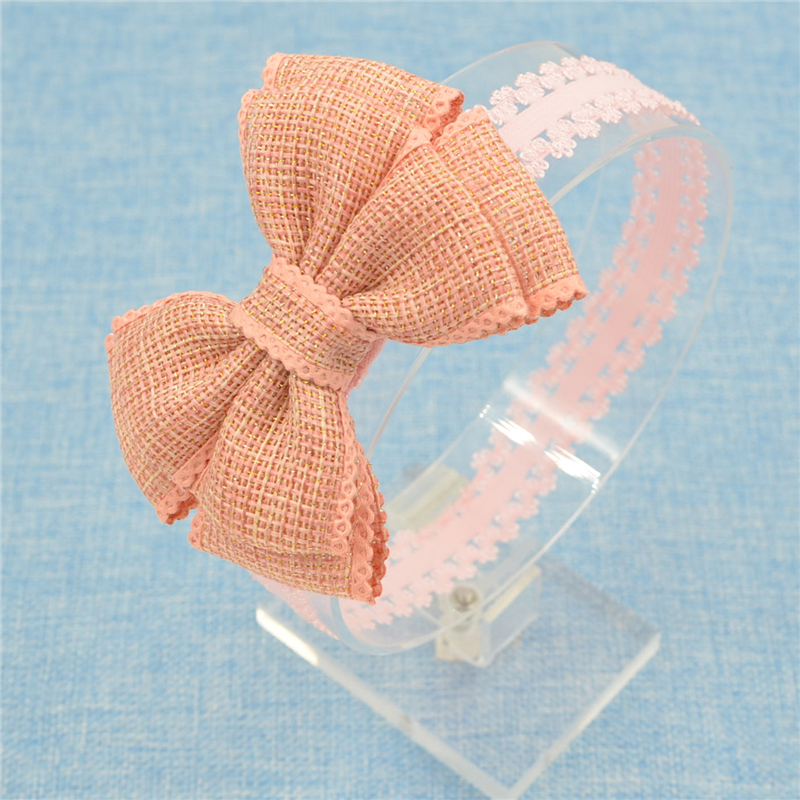 New hair bows flower Headband lace band Hand made Hair Band butterfly DIY hair accessories bowknot 10 color hand made unicorn flower hairbands hair
