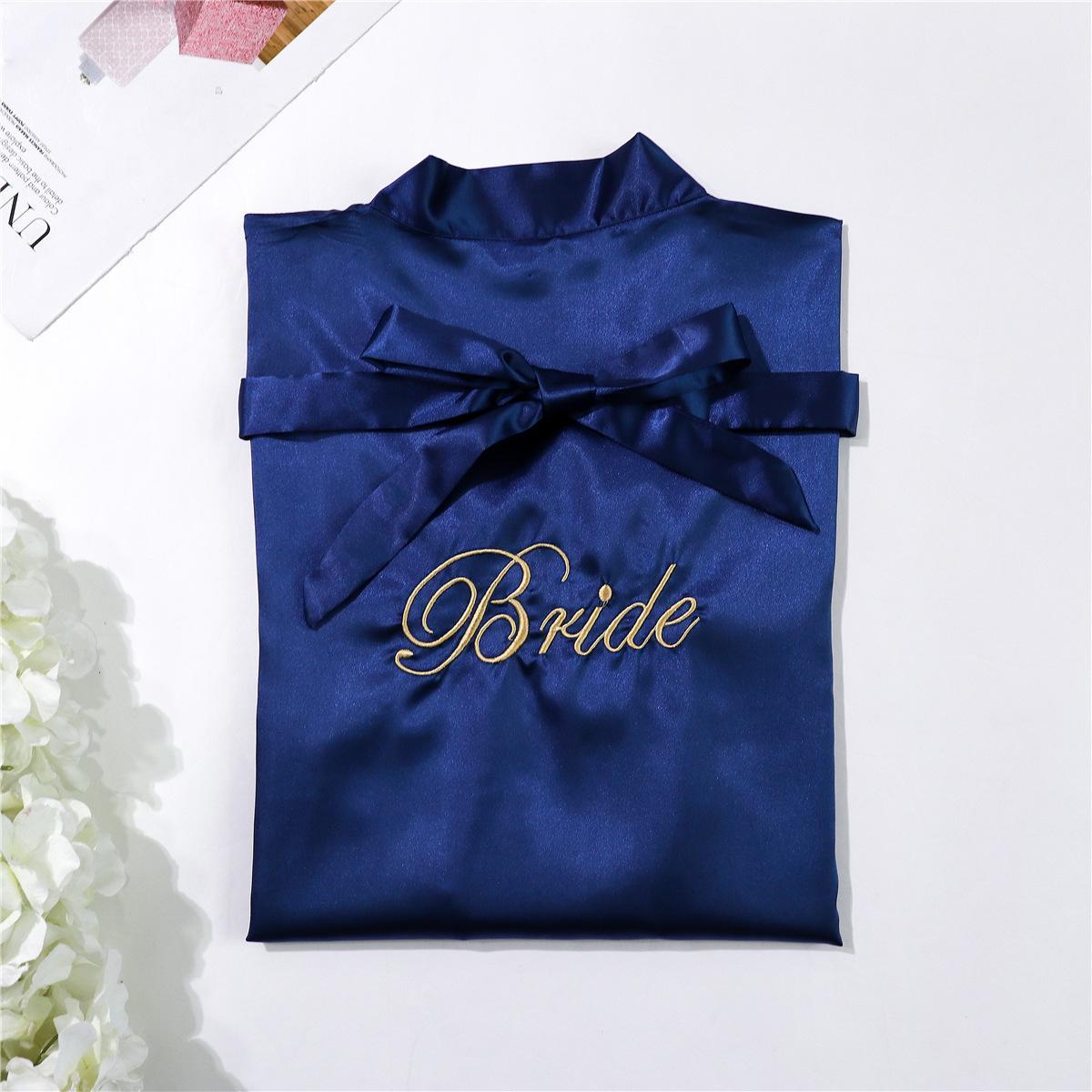Bride - navy blue