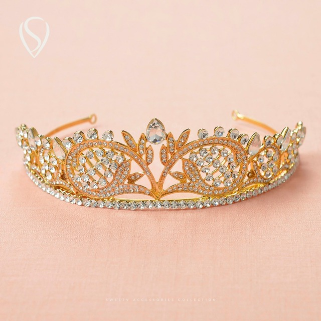 CLEARANCE SALE Crystal Princess Crown Rhinestone Tiara Bridal Headdress Pageant Wedding Hair Jewelry Accessories Decorations