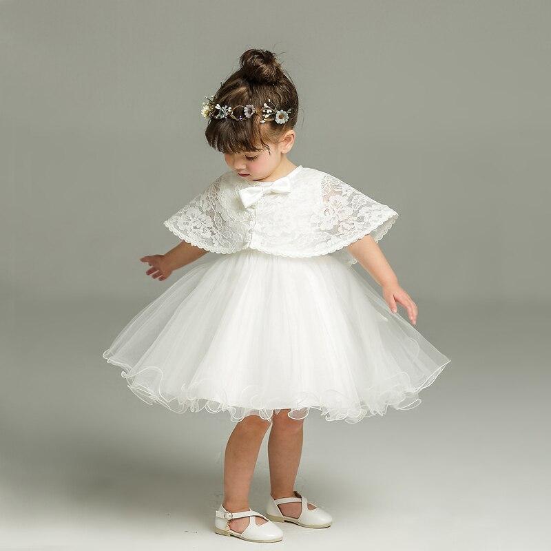 1762 32 De Descuentorecién Nacido Vestido Blanco Para Bautismo Sin Mangas Bebé Niña Encaje Vestido De Bautizo Vestido Niño 1 Er Cumpleaños Fiesta