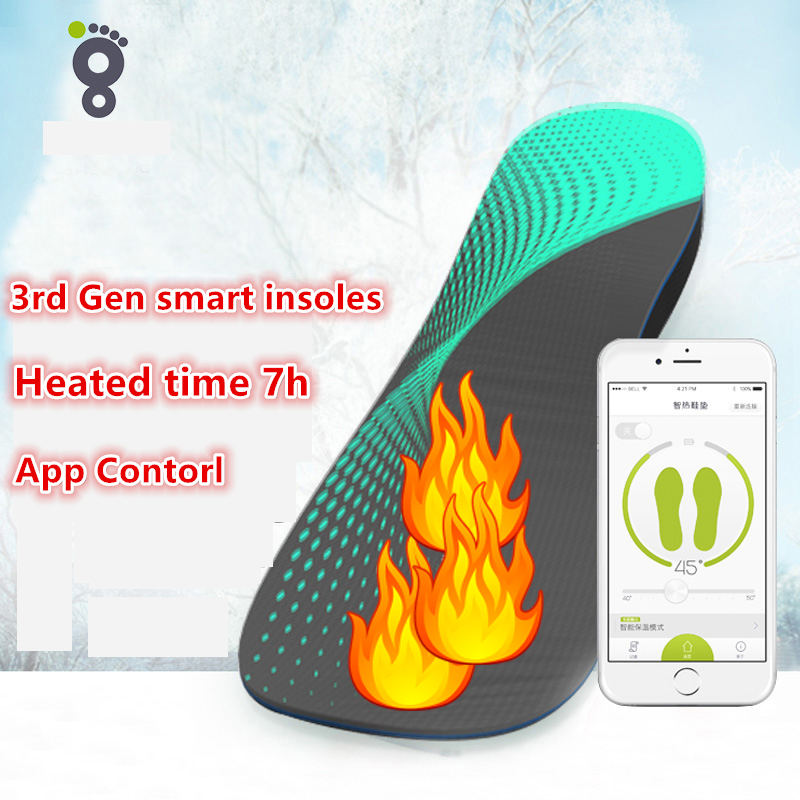 12V Heated Insoles Foot Warmer Unisex Thermo Soles for Ski Boots Shoes Insoles