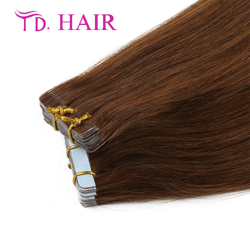 #6 14-26 inch Natural tape hair beauty of a woman choicer Tape virgin human Extension top qualty Tape In Human Hair on sale