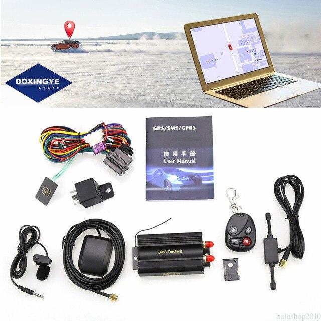 US $29 24 25% OFF|DOXINGYE TK103B Car GPS Tracker System GPS / GSM / GPRS  Car Vehicle Tracker Locator with SIM SD Card Anti theft warning-in GPS