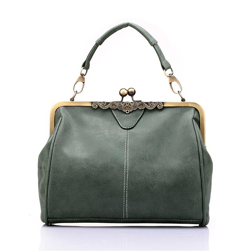 Vintage Women Messenger Bags Small Retro Crossbody Shoulder Bags Female Fashion Metal Frame Pu Leather Small Clutch Handbags 1