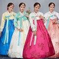 4 Cor Da Moda Coreana Tradicional Vestido Borde Mulheres Vestido Coreano Hanbok Roupas Antigas de Luxo Coreano Hanbok