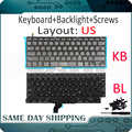 새로운 a1502 미국 영어 키보드 + 백라이트 + 100 pcs 나사 macbook pro retina 13