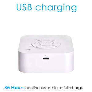Image 2 - Hot Sale Baby Monitor White Noise Sleep Machine For Sleeping Relaxation for Cry Baby Adult Office USB Charging timed Shutdown