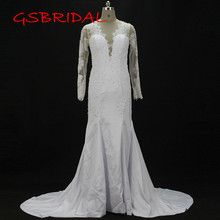 Wedding Dress 2017 V-Neck Button Back Bridal Dresses vestidos de noiva Court Train robe de mariage Custom made Wedding Dresses