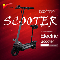 48V 500w long distance 100km lithium battery electric scooter 10inch powerful electric skateboard patinete electrico adulto LCD