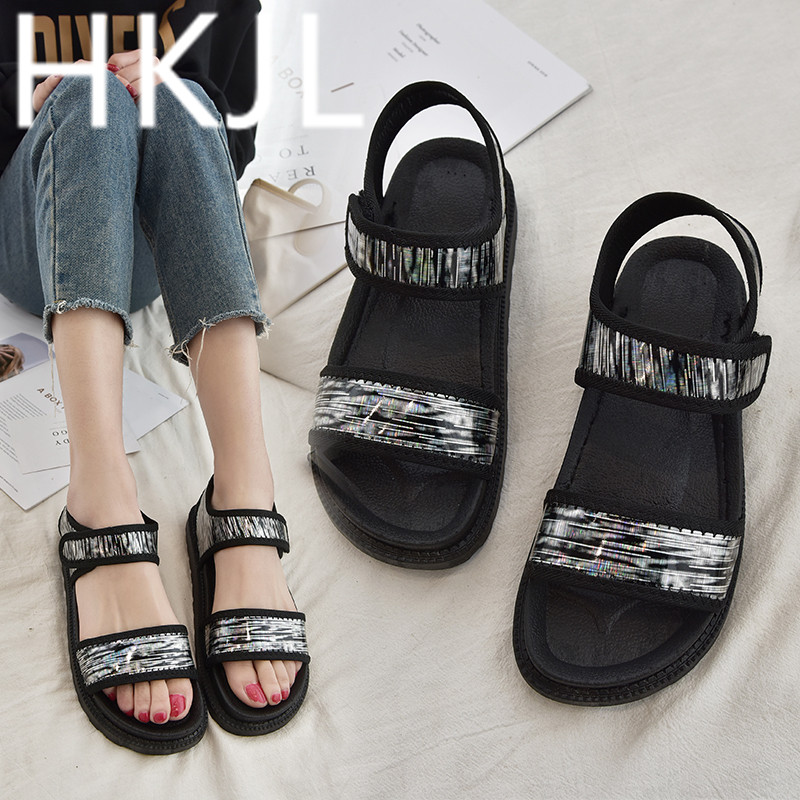HKJL Fashion Sandals 2019 summer sponge cake platform casual sandals for all students sports A289