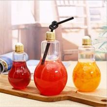 Plastic Bottle Milk-Juice-Light New-Bulb Creative Leak-Proof Cute Summer Fashion Brief