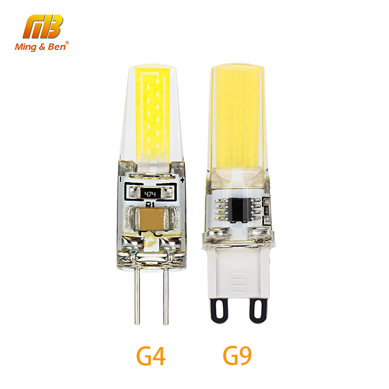 5pcs Smart G4 G9 LED COB Lampada 3W DC 12V AC 220V Bulb Replace Halogen Lamp LED Beads For Chandelier Spotlight Crystal Light