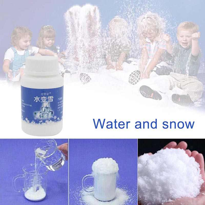 Fake Snow Artificial Fluffy Powder Instant Snow Cloud Slime Party Supplies 80g LBShipping