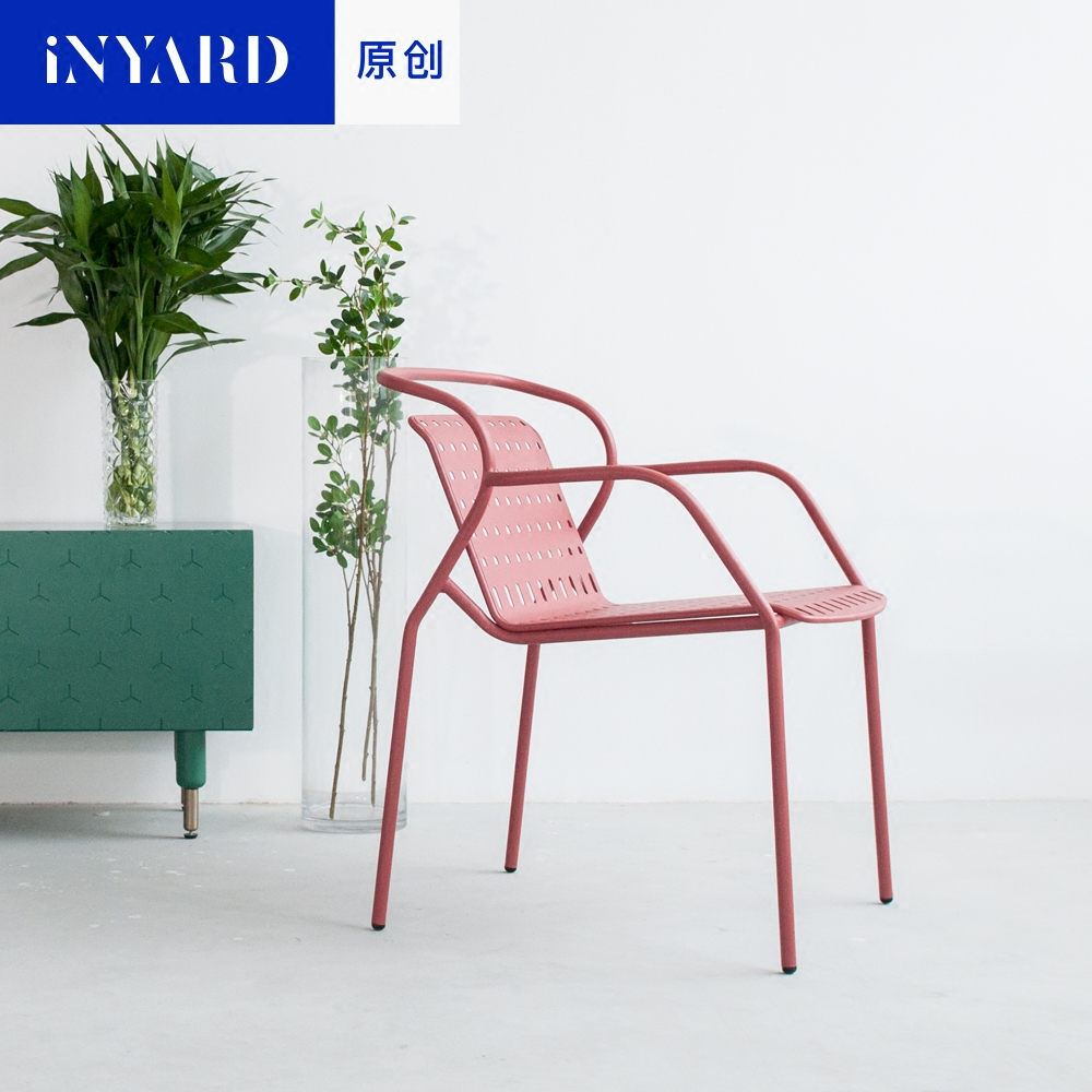 outdoor upholstered furniture. [InYard Original] Petal Chair / Nordic Outdoor Balcony With Upholstered Dining Stackable Metal Chair-in Chairs From Furniture On Aliexpress.com