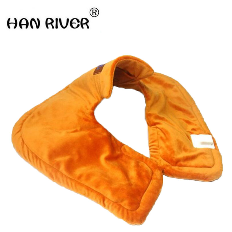 купить HANRIVER 2018 Electric heating protect neck Cervical heat warm moxibustion hot compress double shoulder and physical therapy онлайн